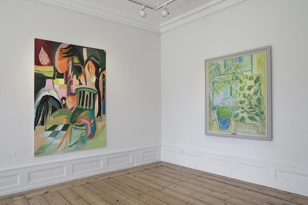 Emily Gernild, Green Chair og Christine Swane, Havedør. Foto: Frida Gregersen.