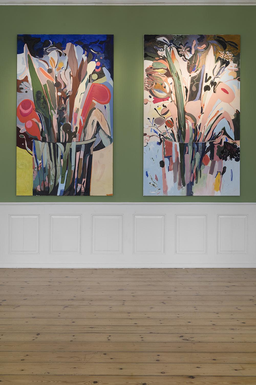 Emily Gernild, Domiestic Flowers 1 og 3. Foto: Frida Gregersen.
