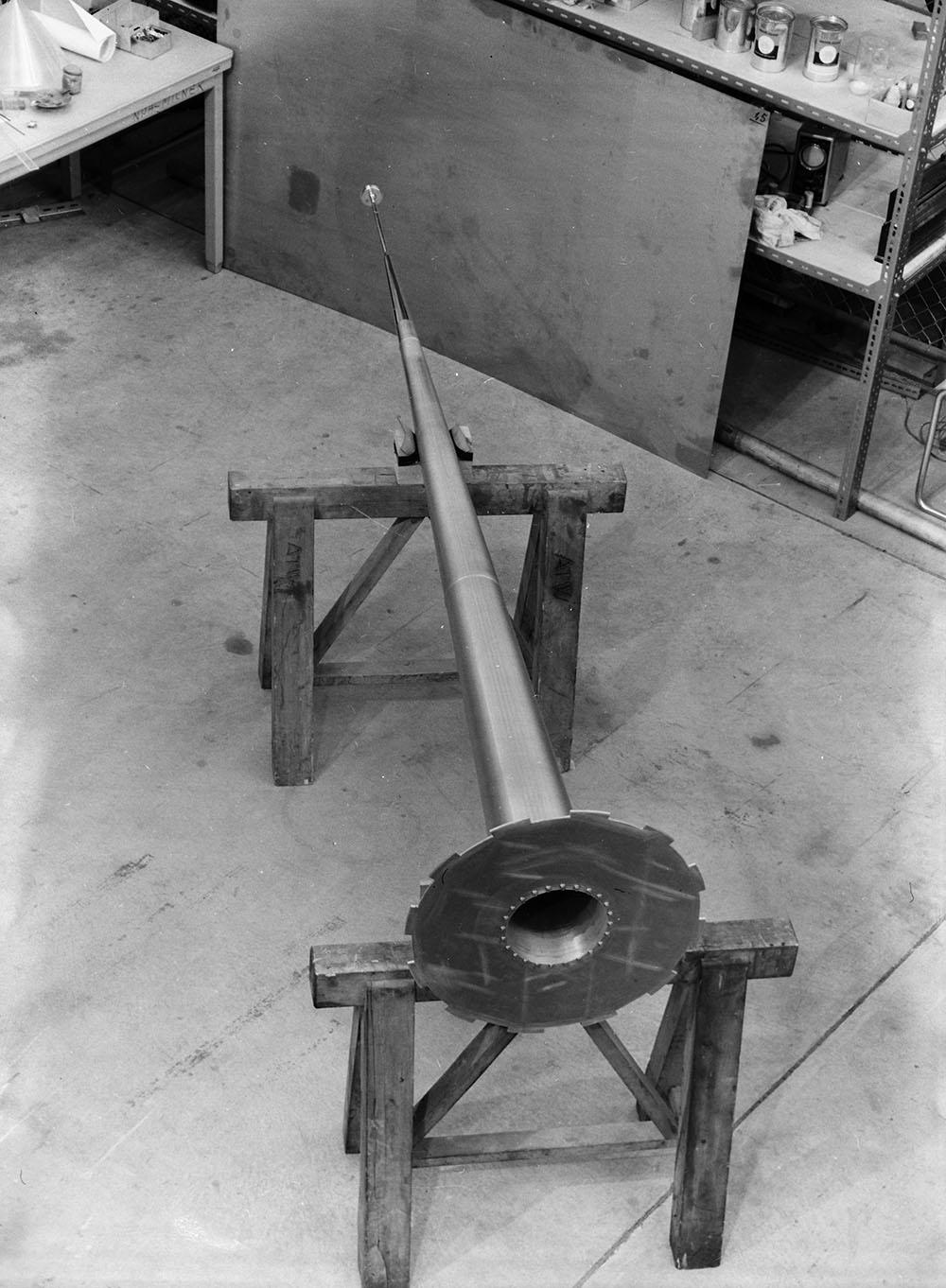 Neutrinohorn (arkivfoto fra CERN).