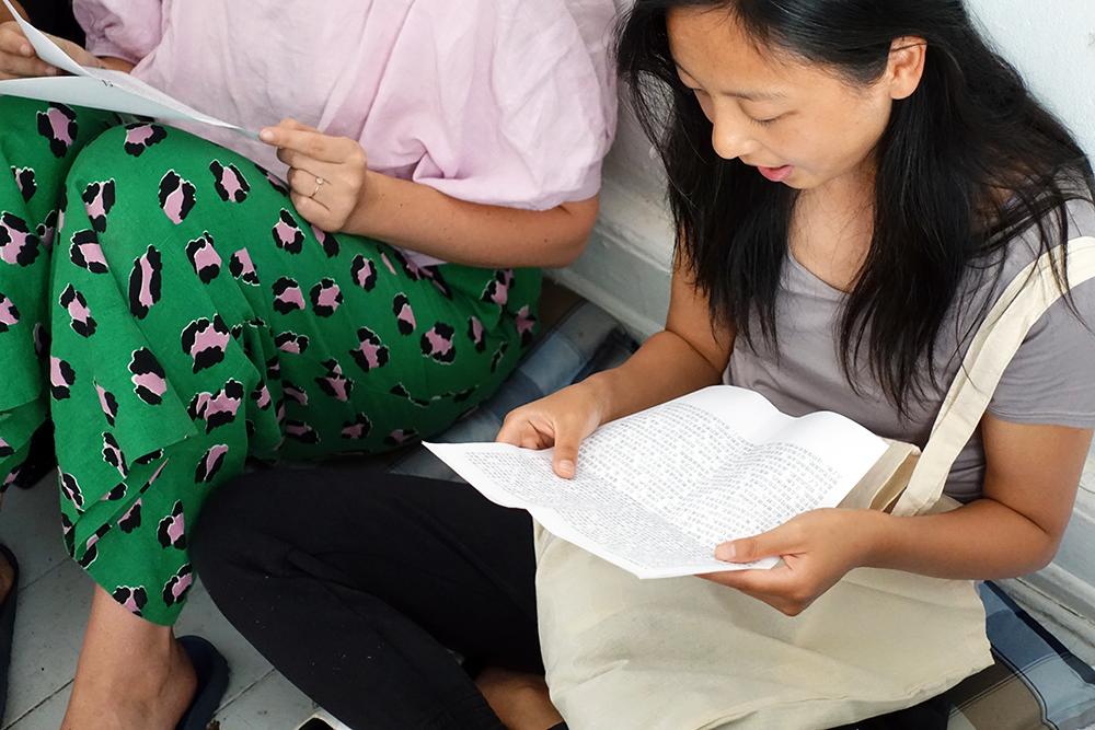 Love Poem Reading by Liu Shiyuan. Photo: Rikke Ehlers Nilsson.