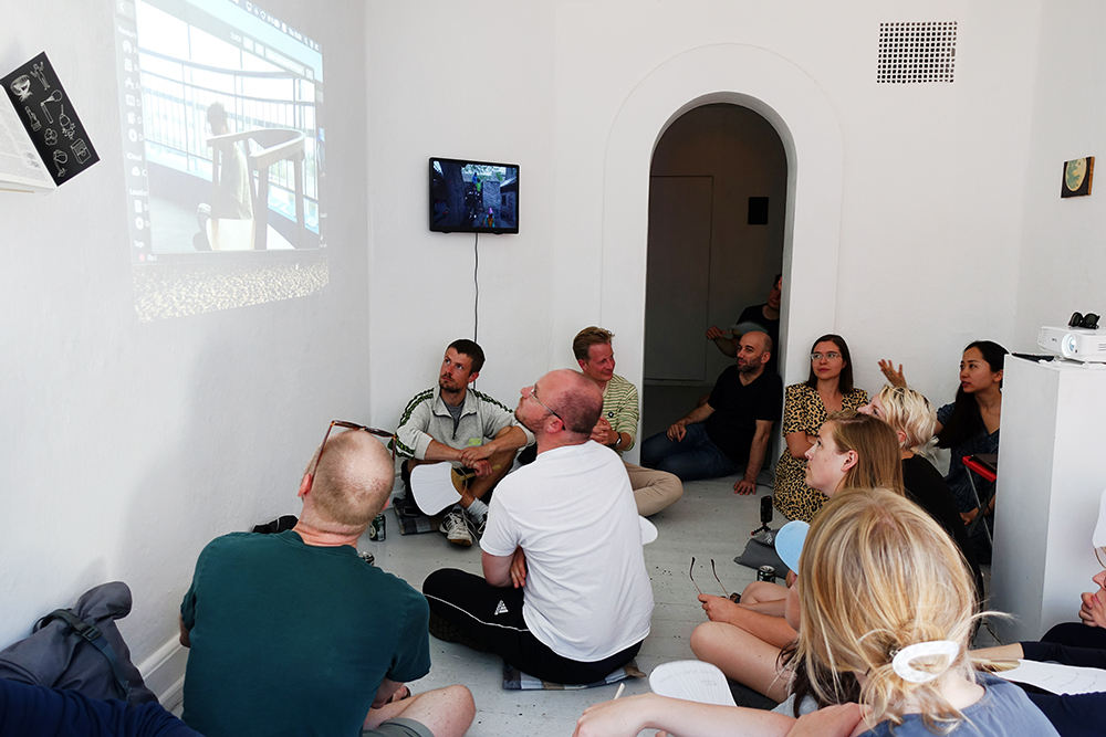 Talk with The Social Sensibility Research & Development Department. Photo: Rikke Ehlers Nilsson.