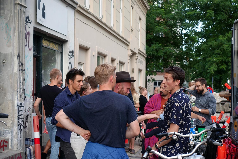 """Niels Pugholm """"Karaktères"""" (fra ferniseringen). Foto: Rikke Ehlers Nilsson."""