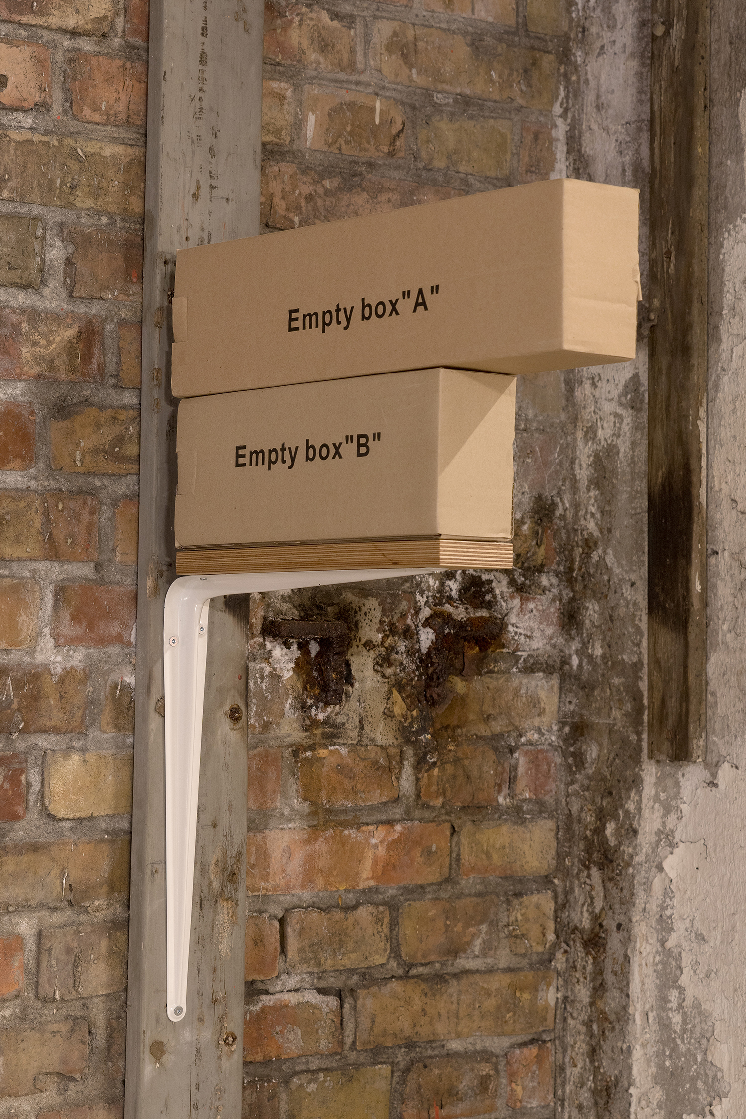 "Lise Nørholm ""Empty box �A�, Empty box �B�.� Foto: Jakob Hunosøe."