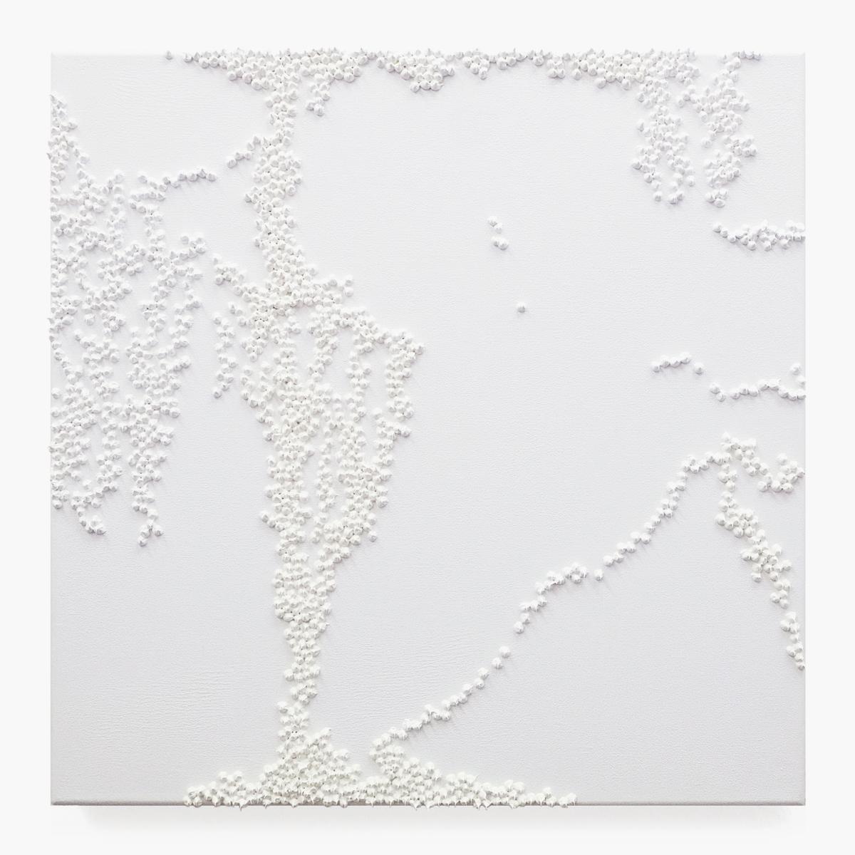 "Rieko Hotta ""Hours 7am,� 2017 (Oil on canvas, 50x50 cm).  Photo: Marie Kirkegaard Gallery."