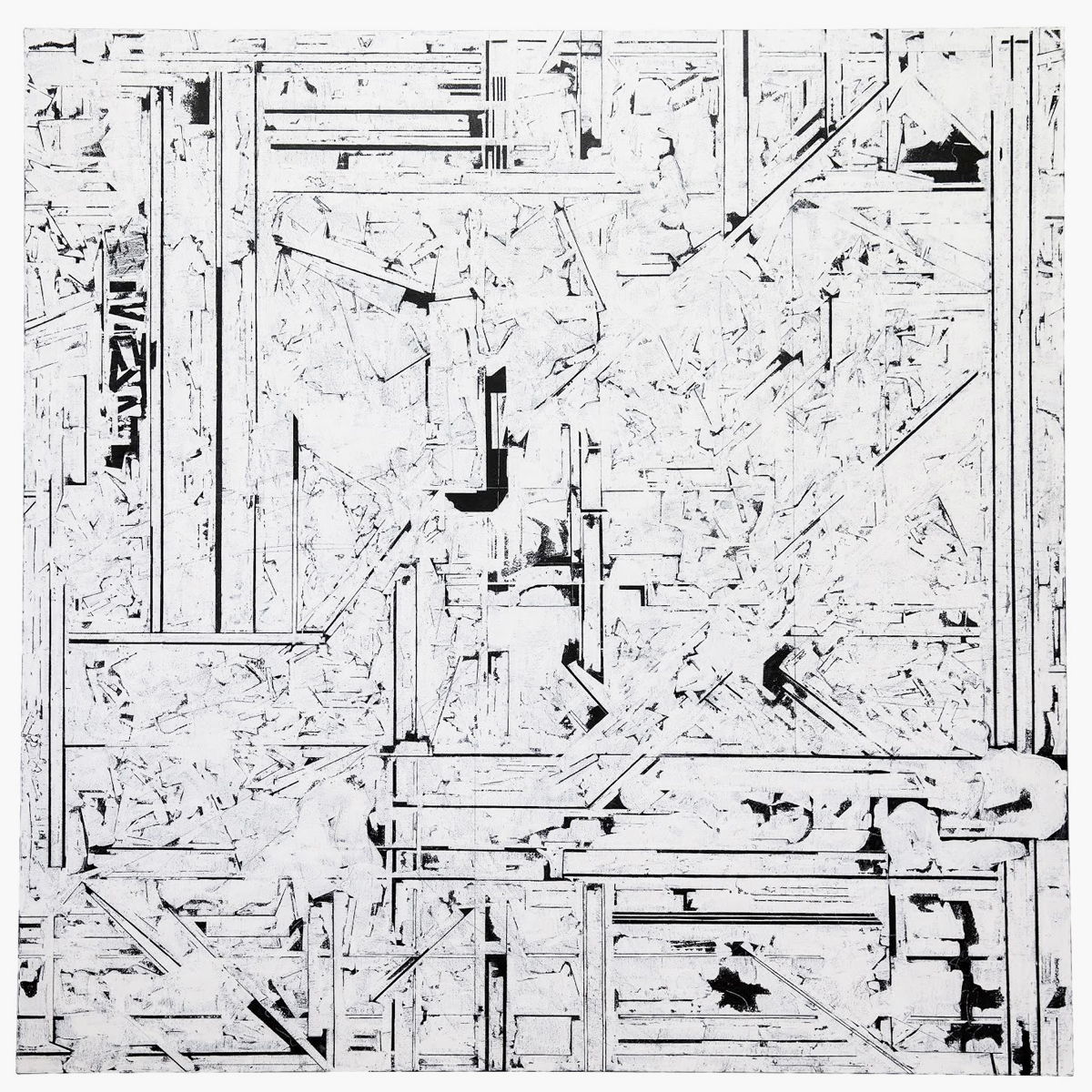 "Rieko Hotta ""What Happened In That Dream_day07,� 2019 (Tempera on cotton, 150 x 150 cm). Photo: Marie Kirkegaard Gallery."