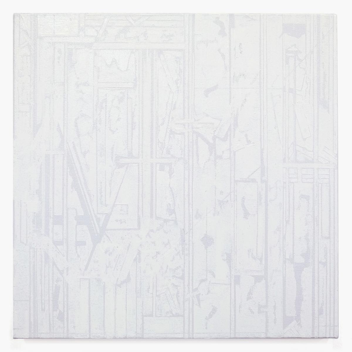 "Rieko Hotta ""Doubt It,� 2019 (Tempera on cotton, 30x30 cm). Photo: Marie Kirkegaard Gallery."
