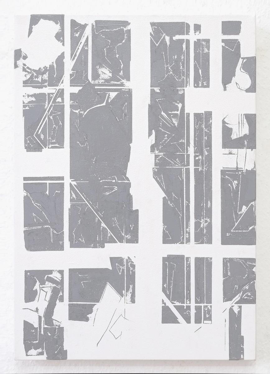 "Rieko Hotta ""Blanks In The Memory_04,� 2019 (Tempera on cotton canvas, 50x35 cm). Photo: Marie Kirkegaard Gallery."
