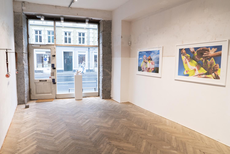"Henriette Sabroe Ebbesen, Domantas Smaizys & Maria Koshenkova ""Bodily Extensions"" (installation view). Photo: SIRIN Gallery."