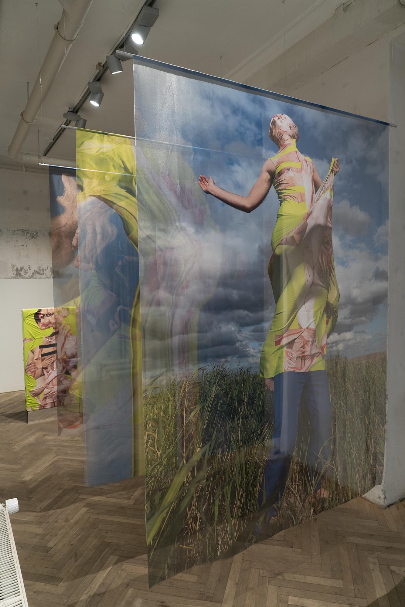 "Henriette Sabroe Ebbesen & Domantas Smaizys ""Portait of a Human 1, 2 & 3,� 2019. Photo: SIRIN Gallery."