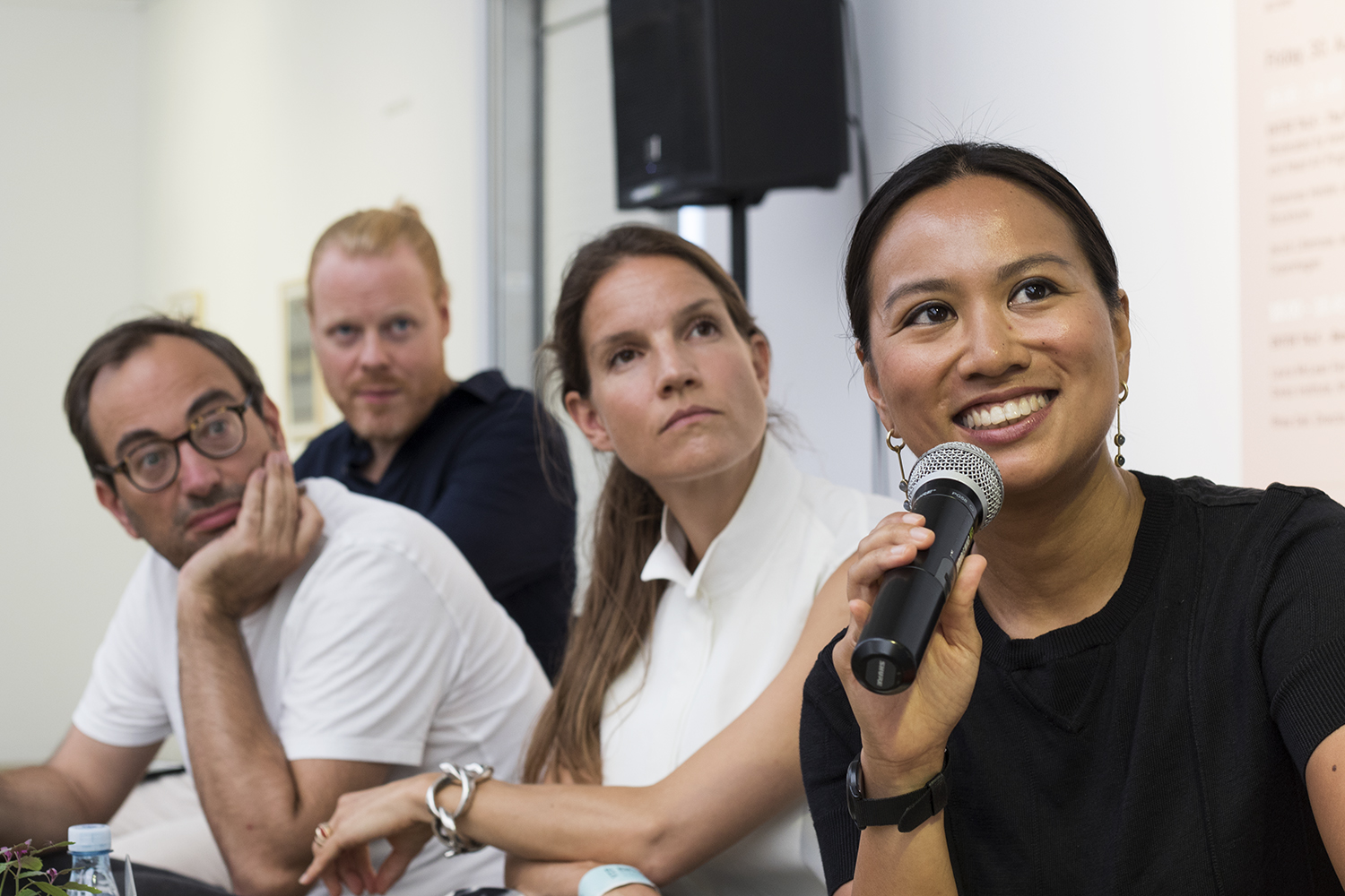 "Talk: ""Institutions taking the risks?"" med Toke Lykkeberg, Axel Wieder, Marie Nipper og Lumi Tan. Foto © I DO ART Agency."