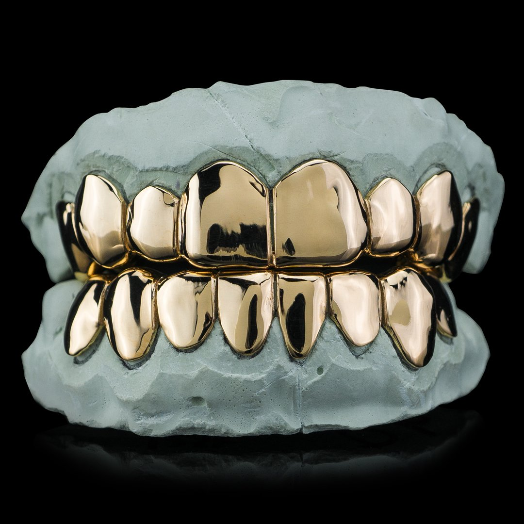Affordable Solid Gold Deep Cut Grillz.