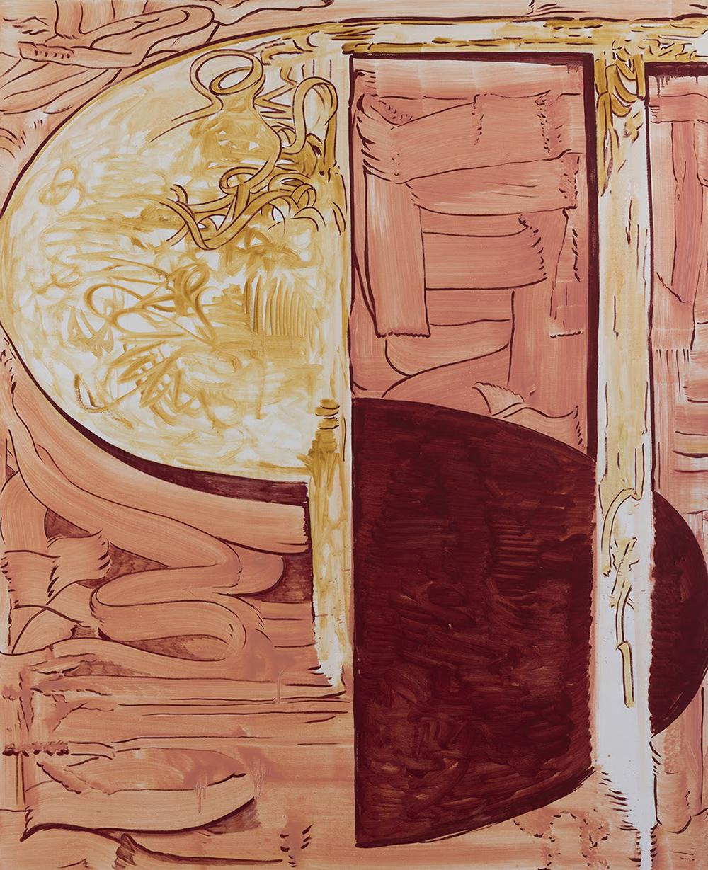 Rasmus Nilausen, The Better Half, 2019 (Olie på hørlærred, 160 x 130 cm). Courtesy kunstneren & garcía | galería, Madrid), foto af Roberto Ruíz