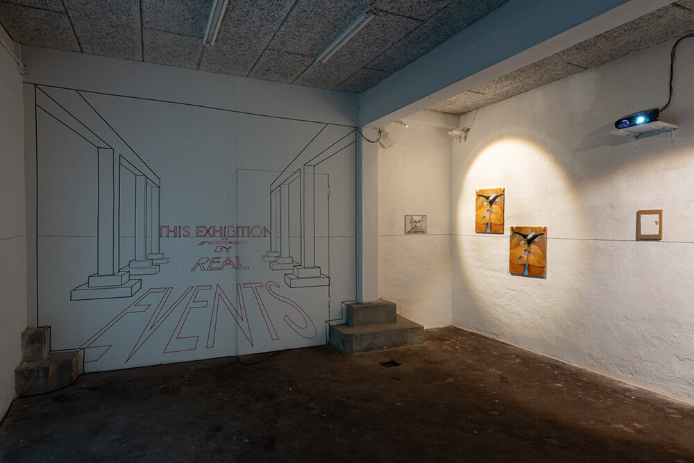 """""""This Exhibition is Inspired by Real Events� (installation view). Photo: David Stjernholm."""