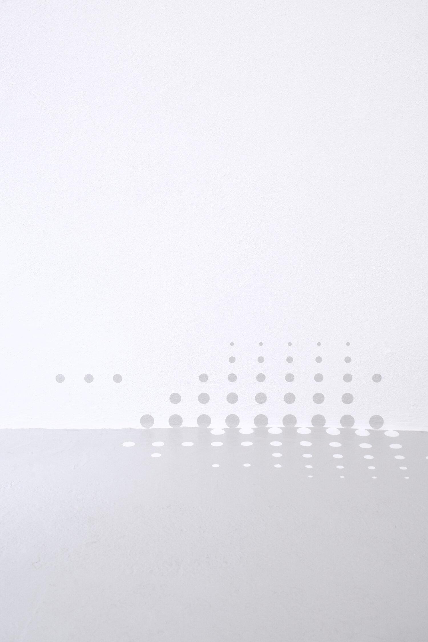 "Lulu Refn ""Untitled,� 2019 (Detail).  Floor paint, wall paint. Variable dimensions.  Photo: Brian Kure."