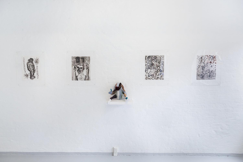 "Gray Wielebinski, Rowland Hill & Dyveke Bredsdorff ""Time Crush"" (installation view). Photo: Adrian Delafontaine."