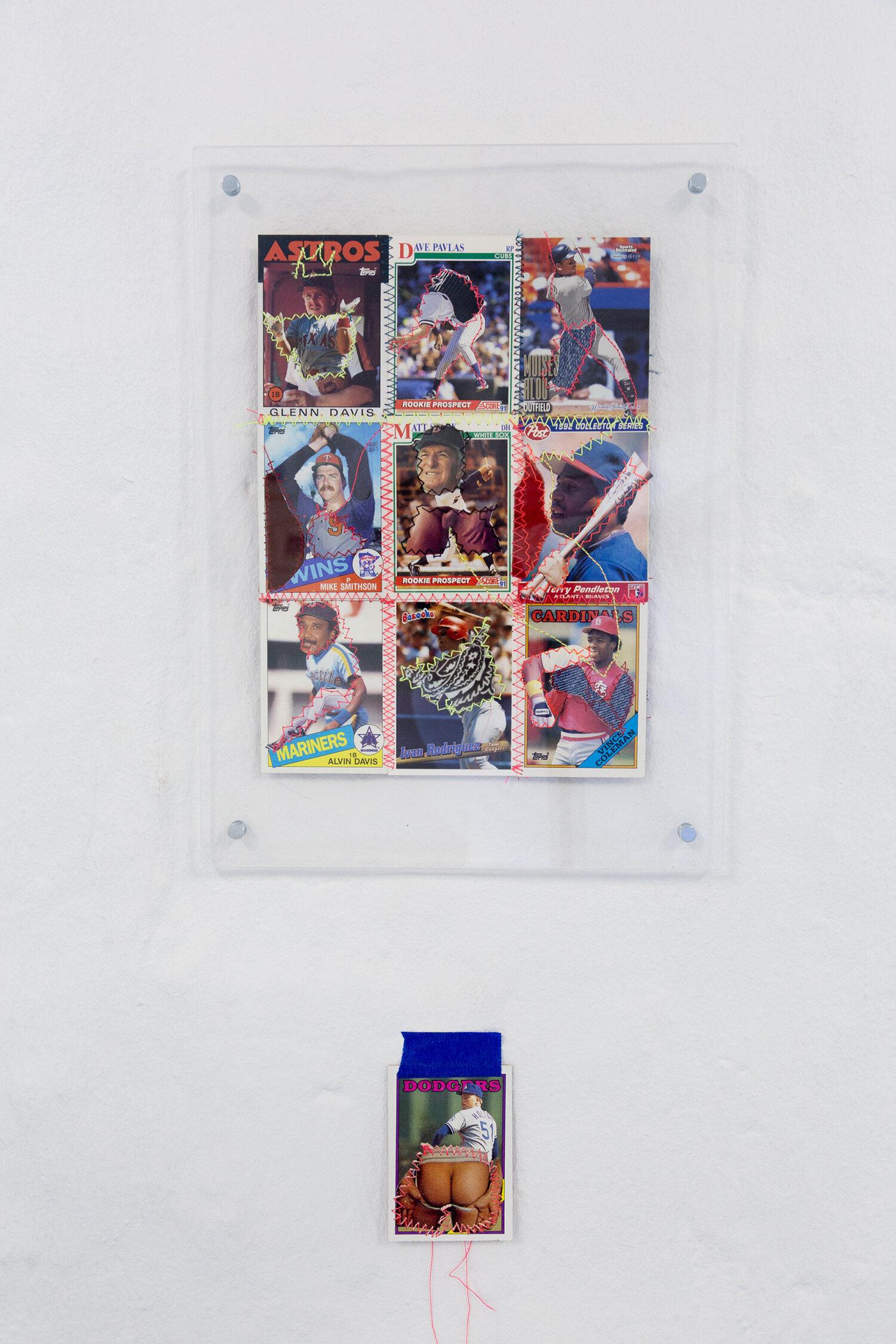 "Gray Wielebinski ""Custom Baseball Card Sheet #1�. Photo: Adrian Delafontaine."