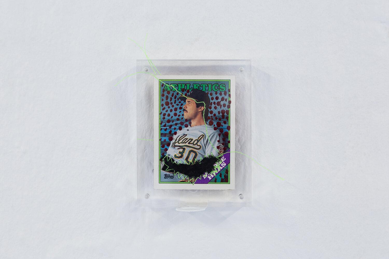 "Gray Wielebinski ""Custom Baseball Card�. Photo: Adrian Delafontaine."