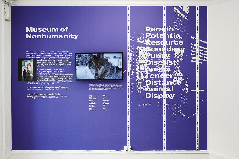 Haapoja & Gustafsson, Museum of Non Humanity (2017-present). Photo: SixtyEight Art Institute, 2019.