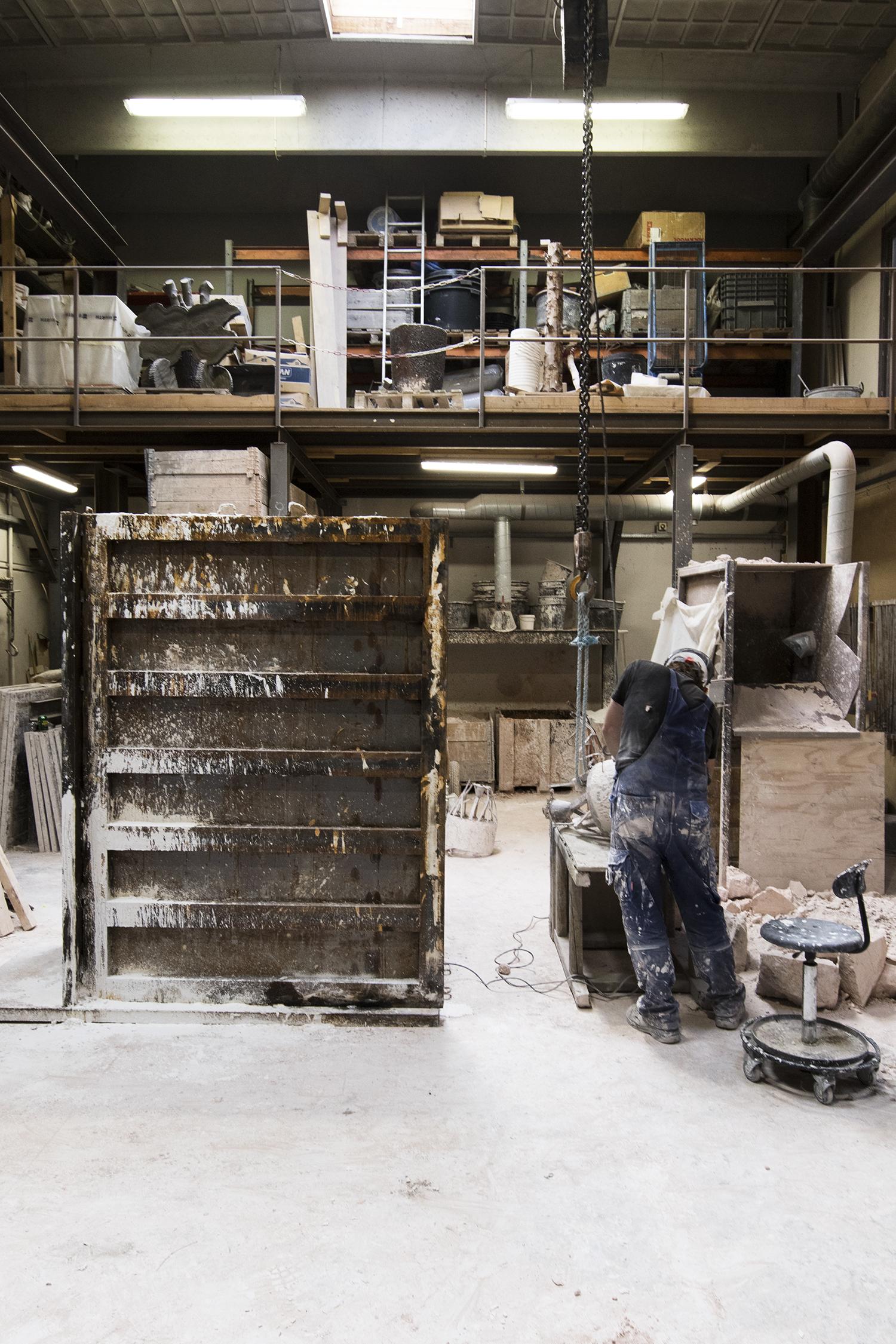 Hans F. Beck i Broncestøberiet. Foto © I DO ART Agency.