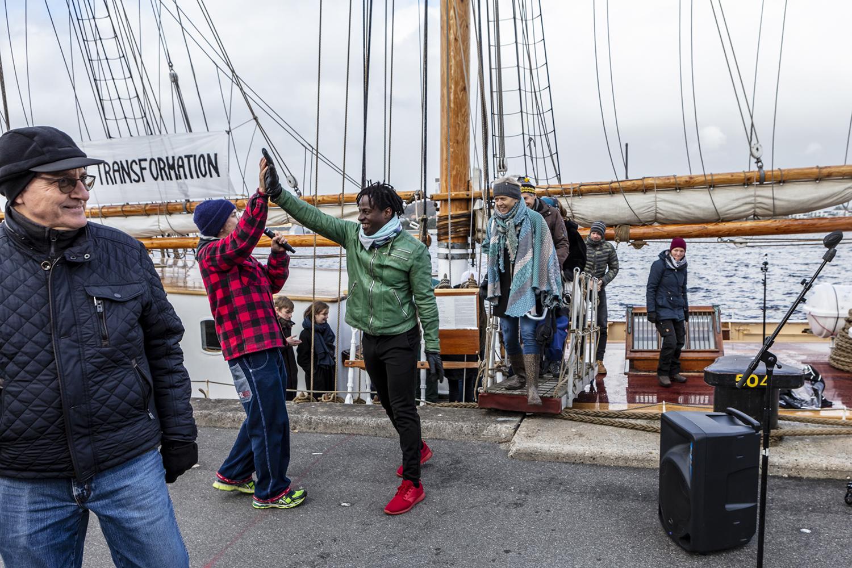 Sailing Ceremony, Arrival, Schooner MAJA. Photo: Niels Fabæk.