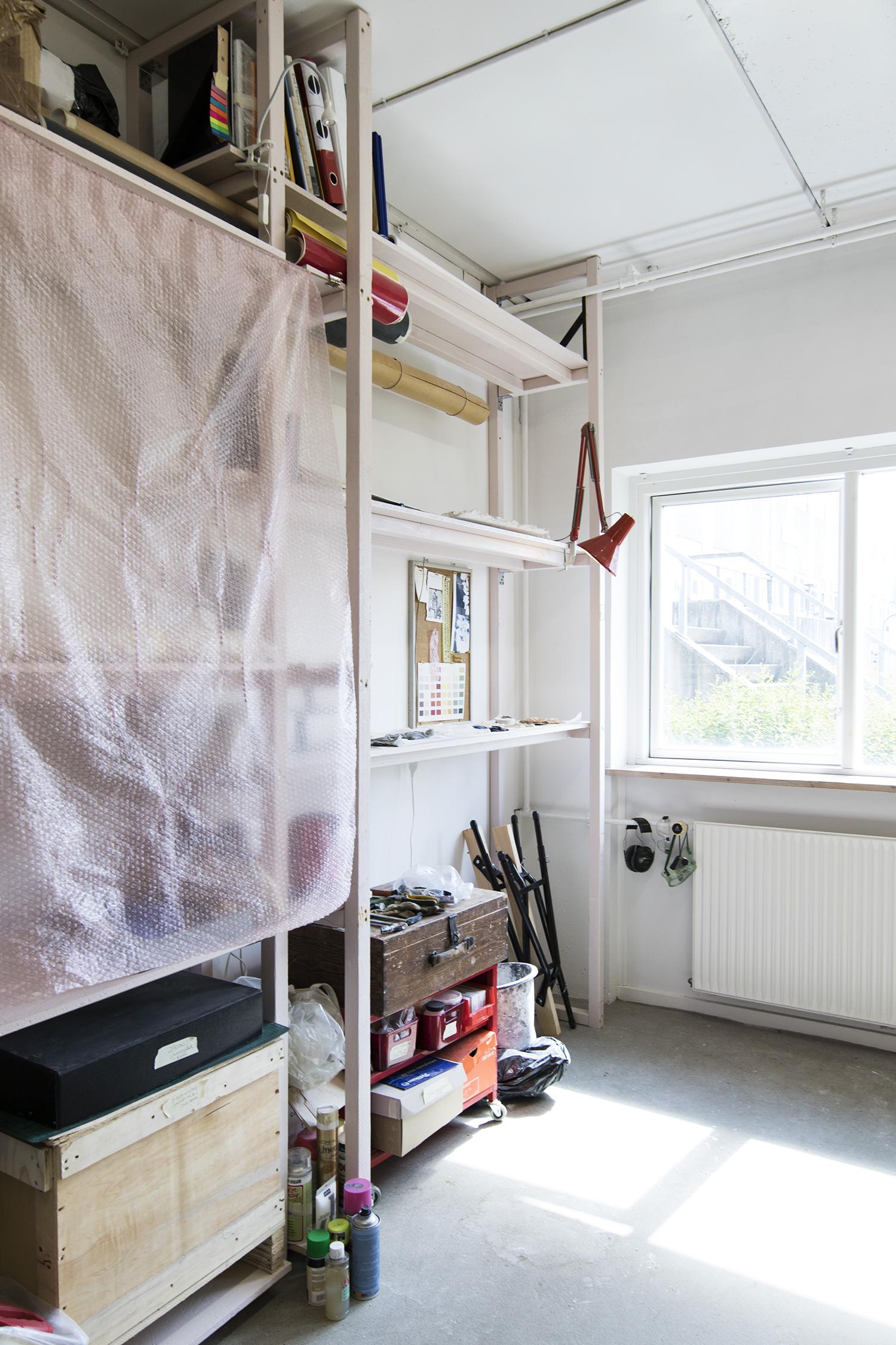 Ida Retz Wessbergs atelier. Foto © I DO ART Agency.