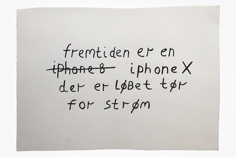 """Claus Ejner """"Fremtiden"""", 2019 (Gouache, 26,5x32,4 cm)."""