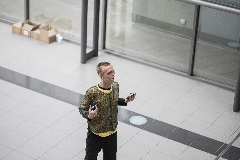 Union for Open Vocalism, Earplay (2019). Performance i Scandinavian Center. Foto: Malte Riis.