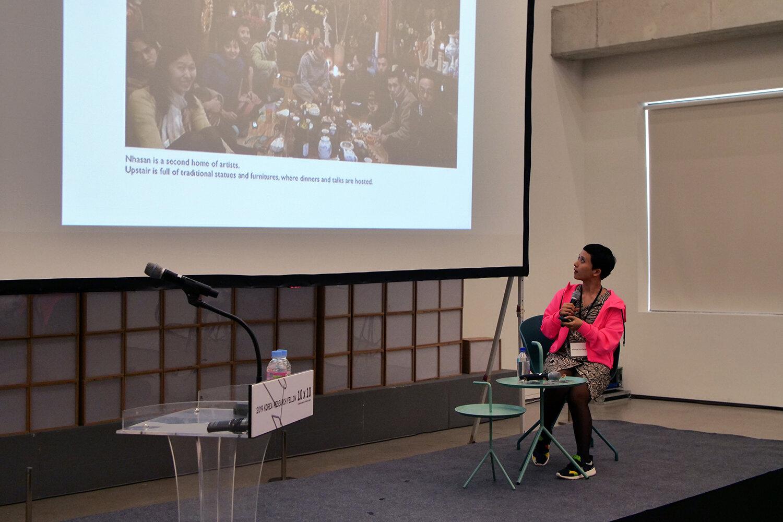 Præsentation ved kurator Phuong Linh Nguyen fra Vietnam. Courtesy of Korea Research Fellow.