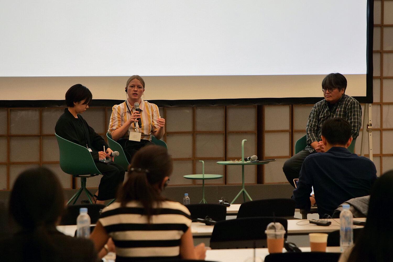 Q&A mellem Louise Lassen Iversen og Suzy Park. Courtesy of Korea Research Fellow.