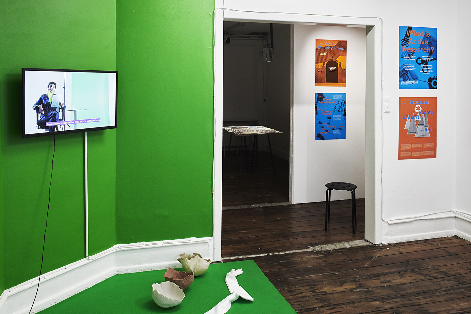 Learning by Doing: A Politics of Practice (installation view). Photo: SixtyEight Art Institute, 2019.