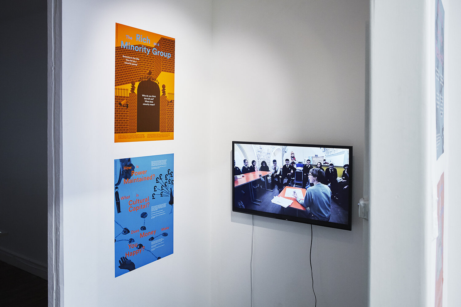 The Alternative School of Economics (Ruth Beale & Amy Feneck). Fieldwork: Finding out about the rich (2016). Digital video, colour, sound, 30:09 min. Photo: SixtyEight Art Institute, 2019.