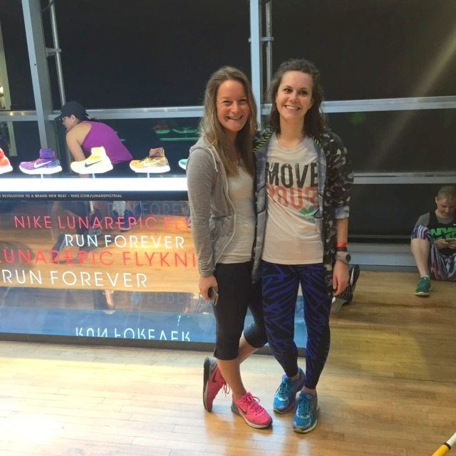 New York in April 2016, running with Bex and Nike Running Club.