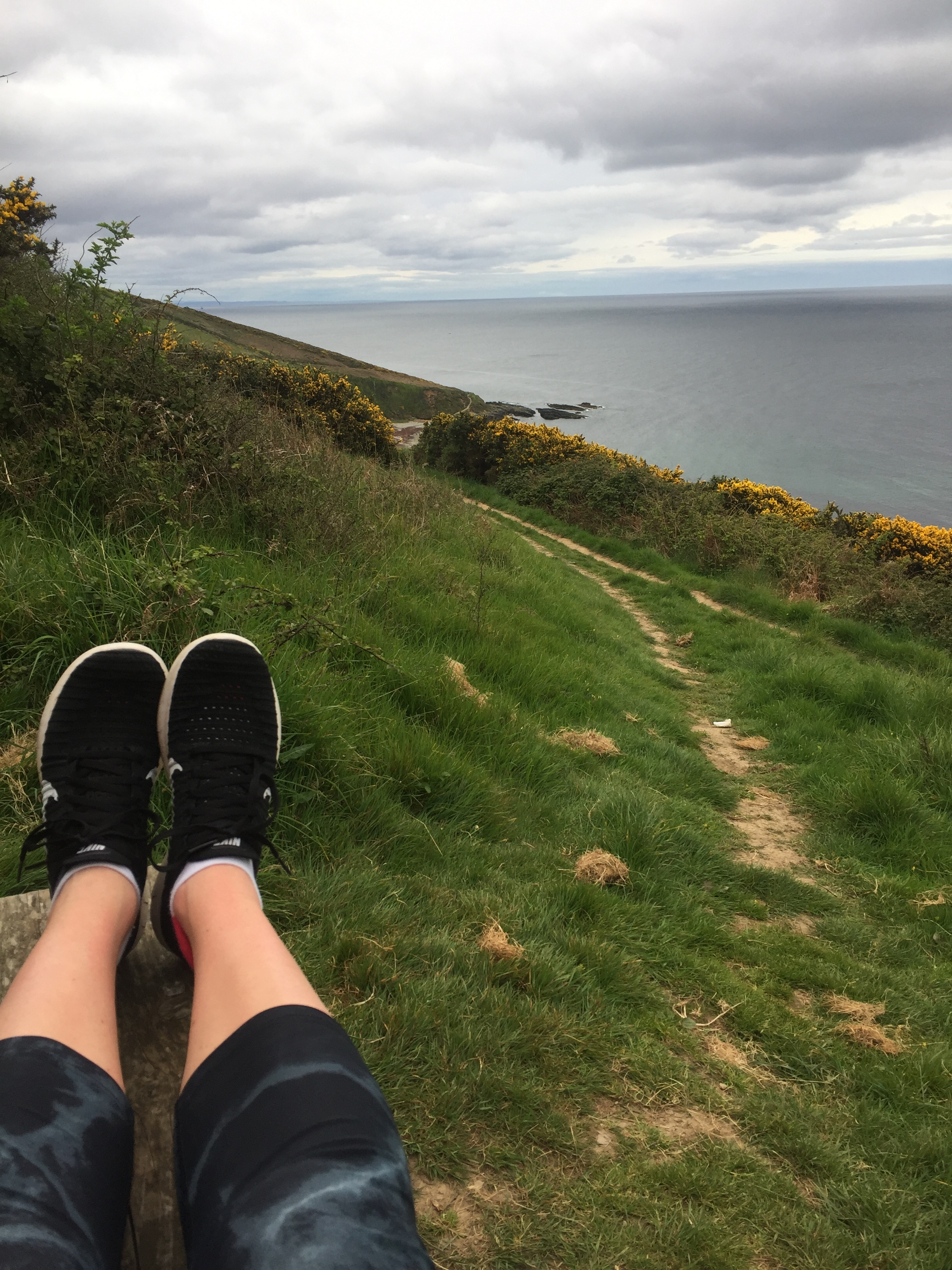 Running in the Cornish countryide.