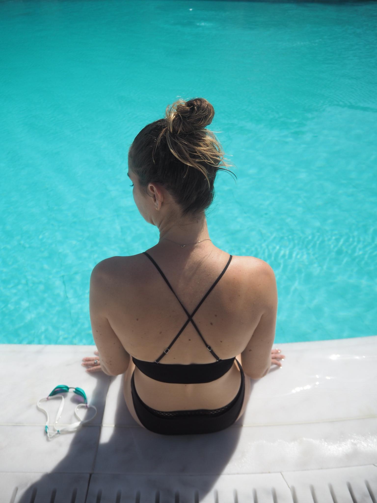 Contemplating a swim in Mykonos