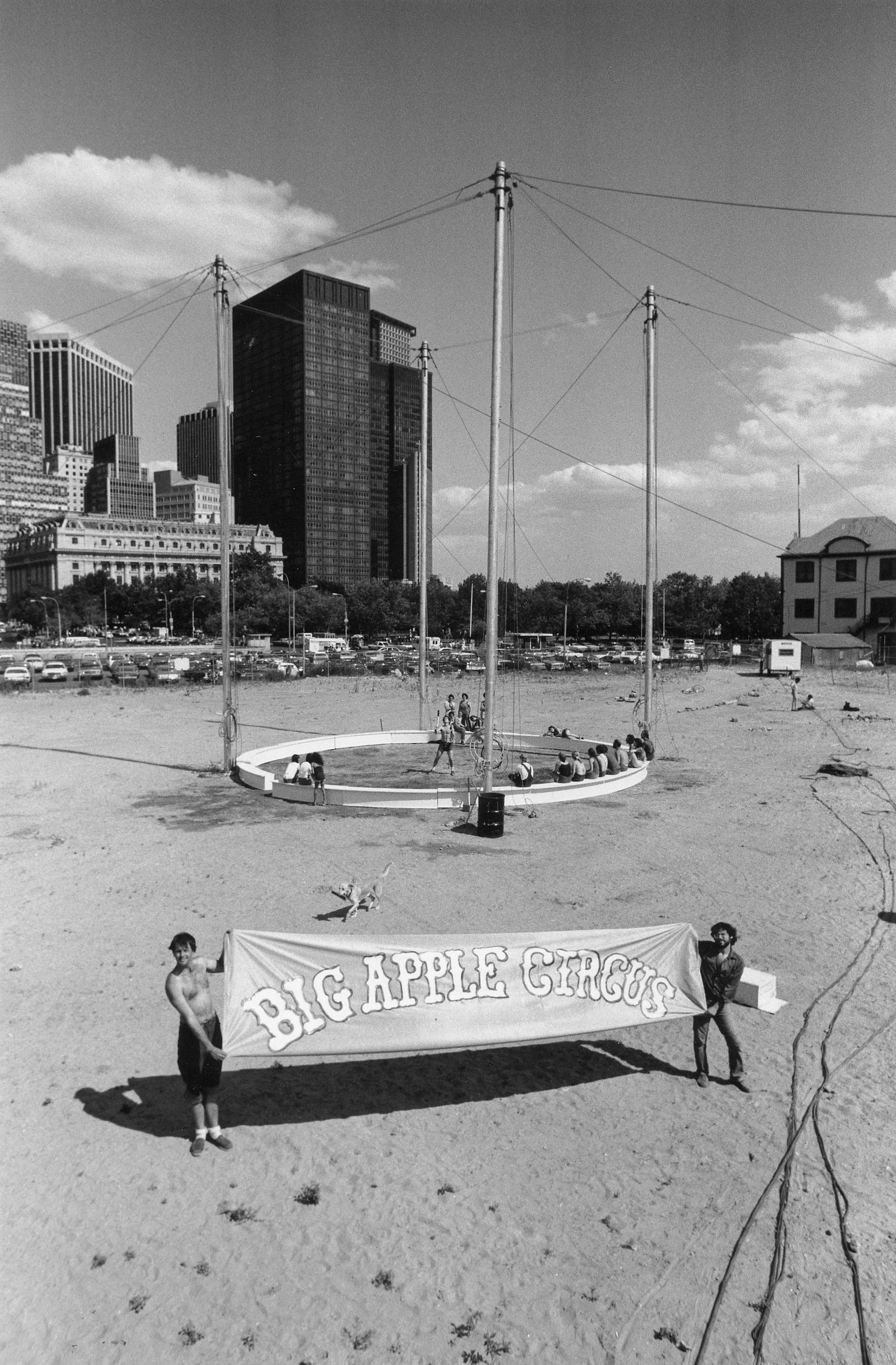 Circus ring at Battery Park landfill