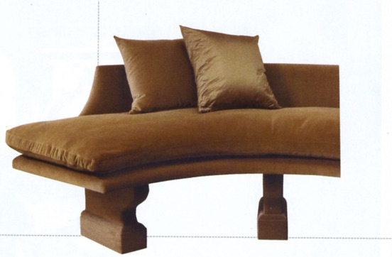 The Curved Bench,   by John Saladino, captures   the   designer's elegant aesthetic that continues to stir feelings of admiration in Brown.