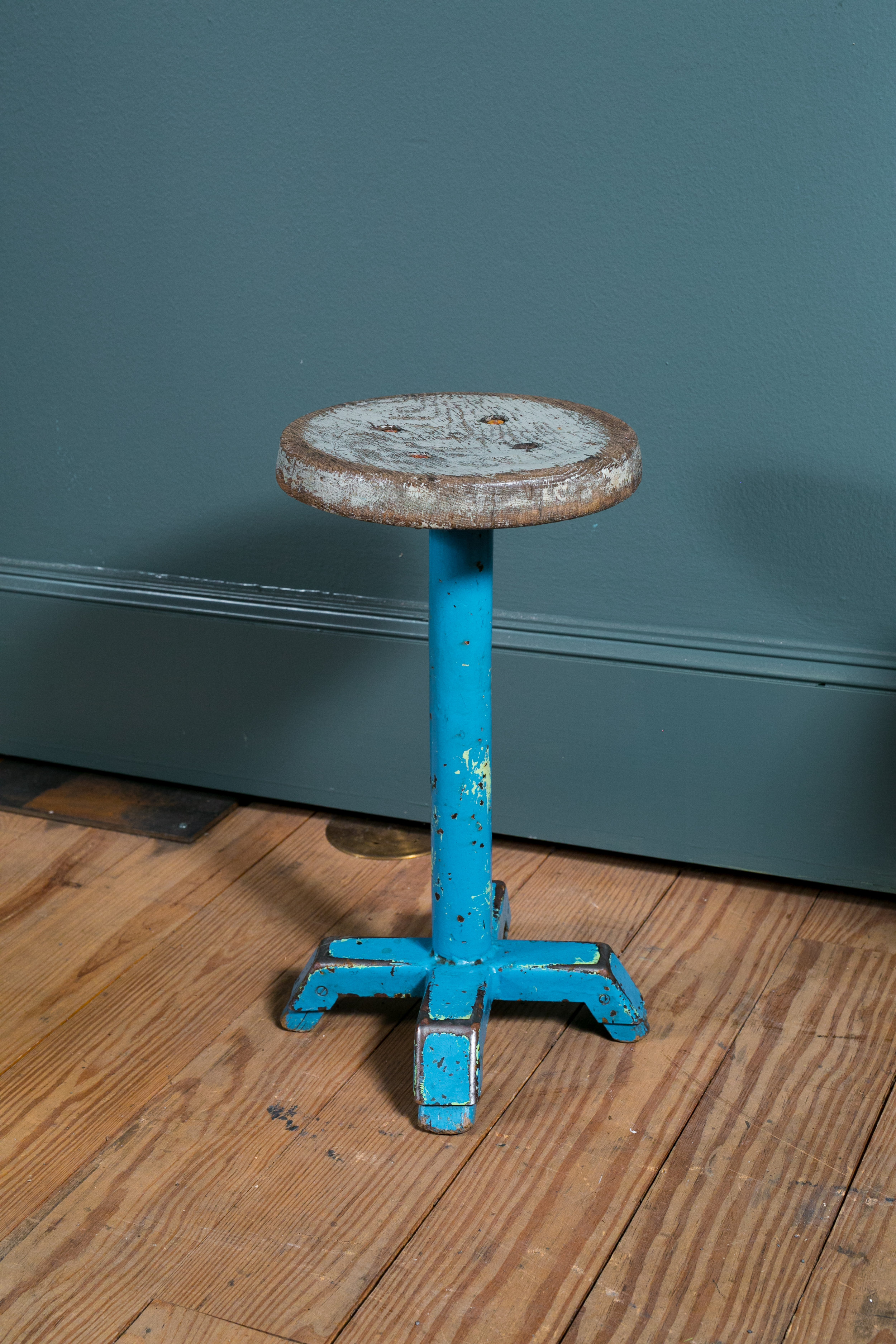 Vintage Painted Belgian Stool