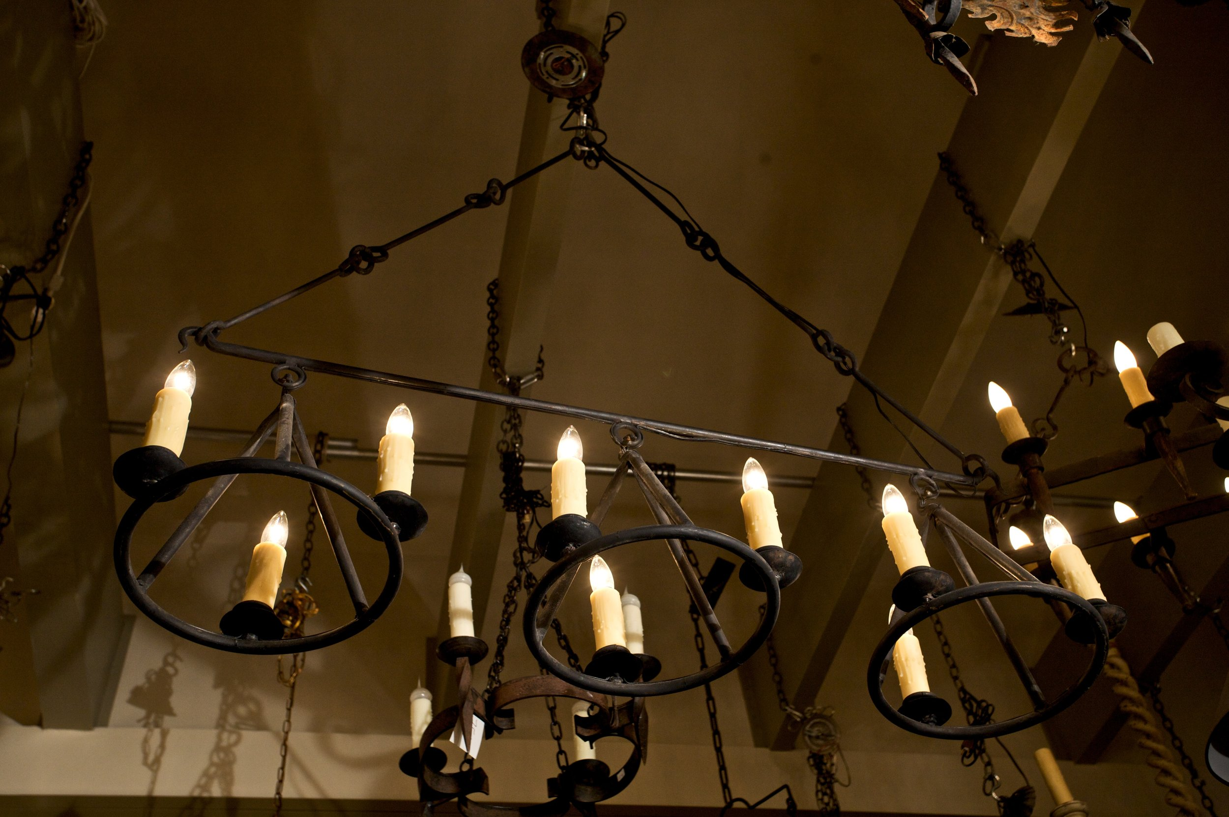 "Handmade, Iron ""Huron"" Island or Billiard Light"