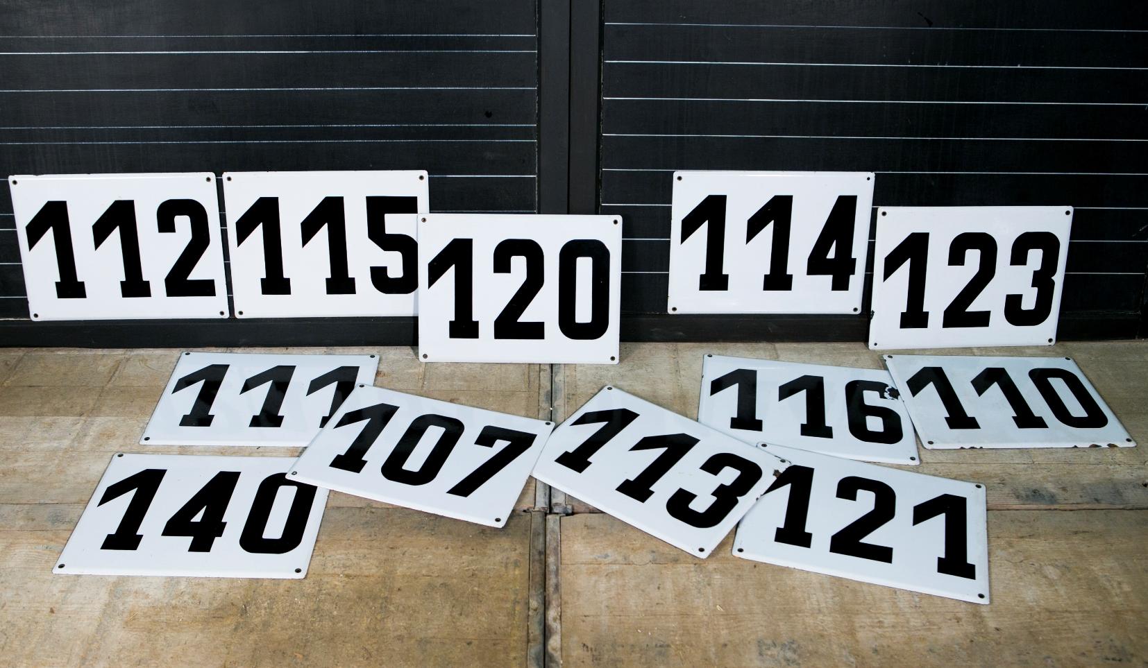 Vintage Enamel Numbers