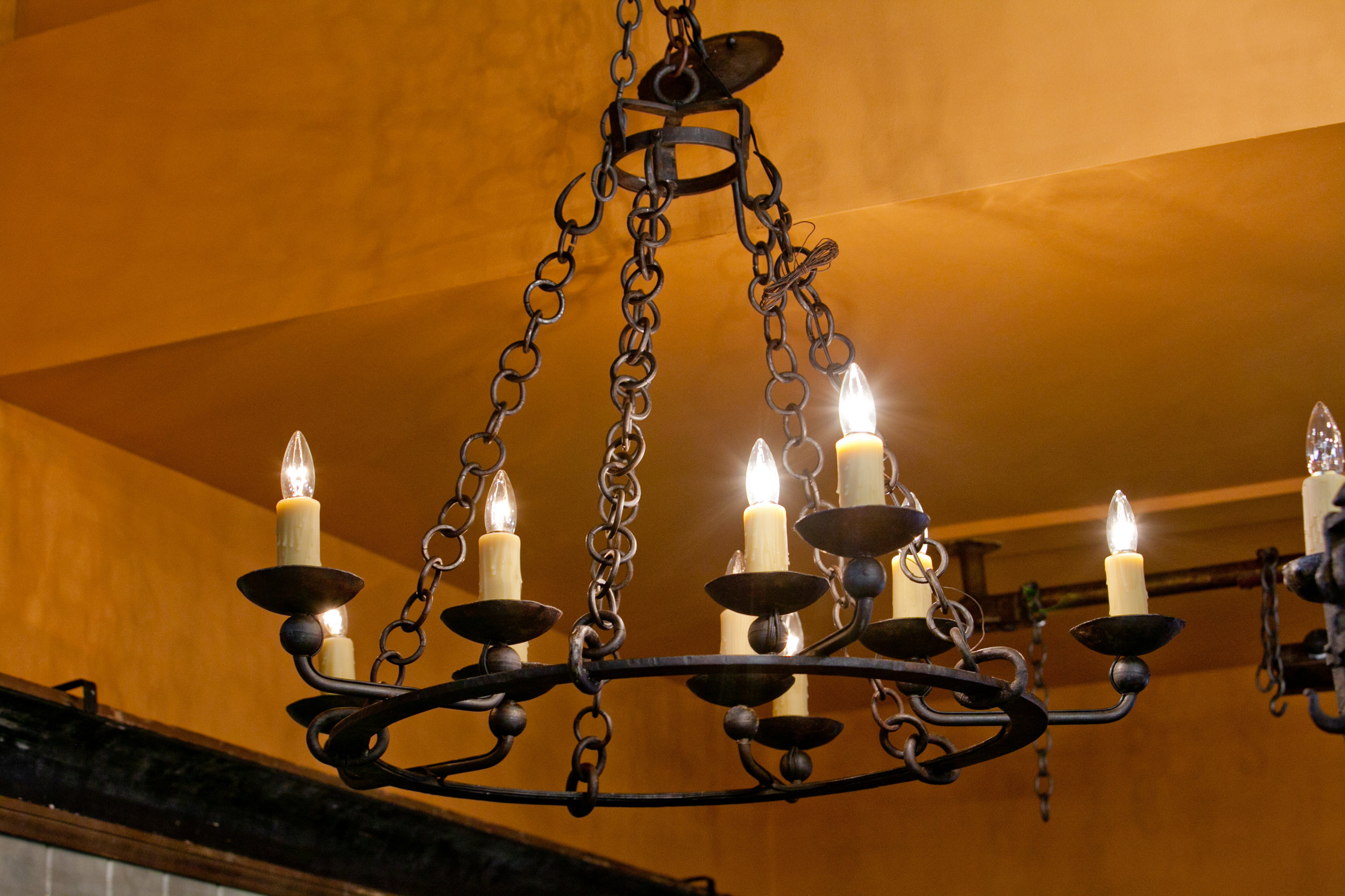 "Iron ""Darke"" Chandelier with Ten Lights"