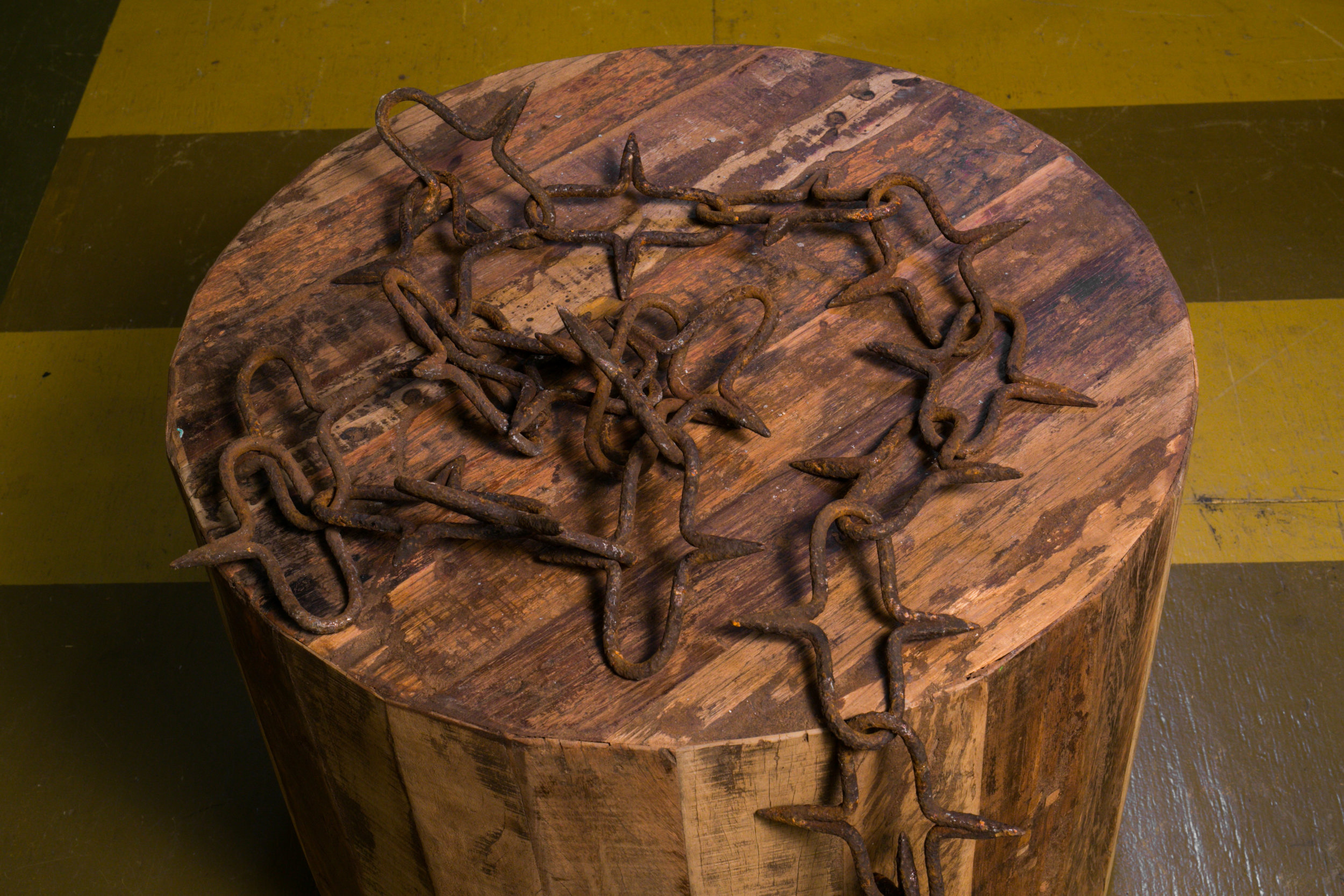 Antique Hand-Made Iron Chain