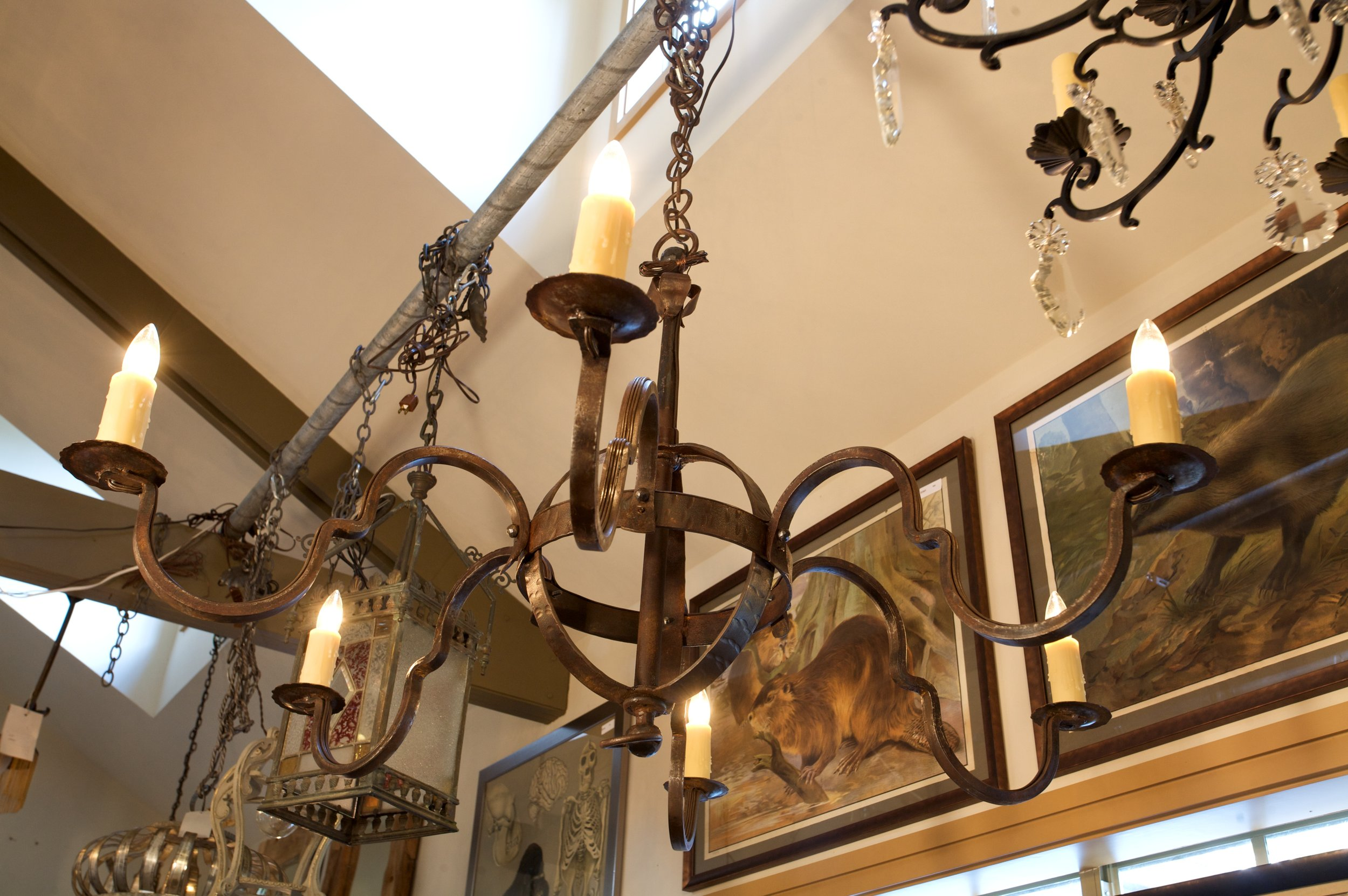 Hand-Forged Iron Putnam Chandelier