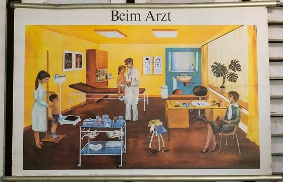 Vintage German Chart of Children's Doctor Visit