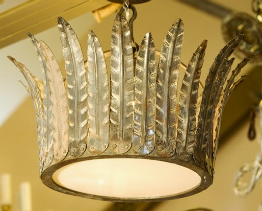 "Hand-Crafted Iron ""Fairfield"" Crown Light"