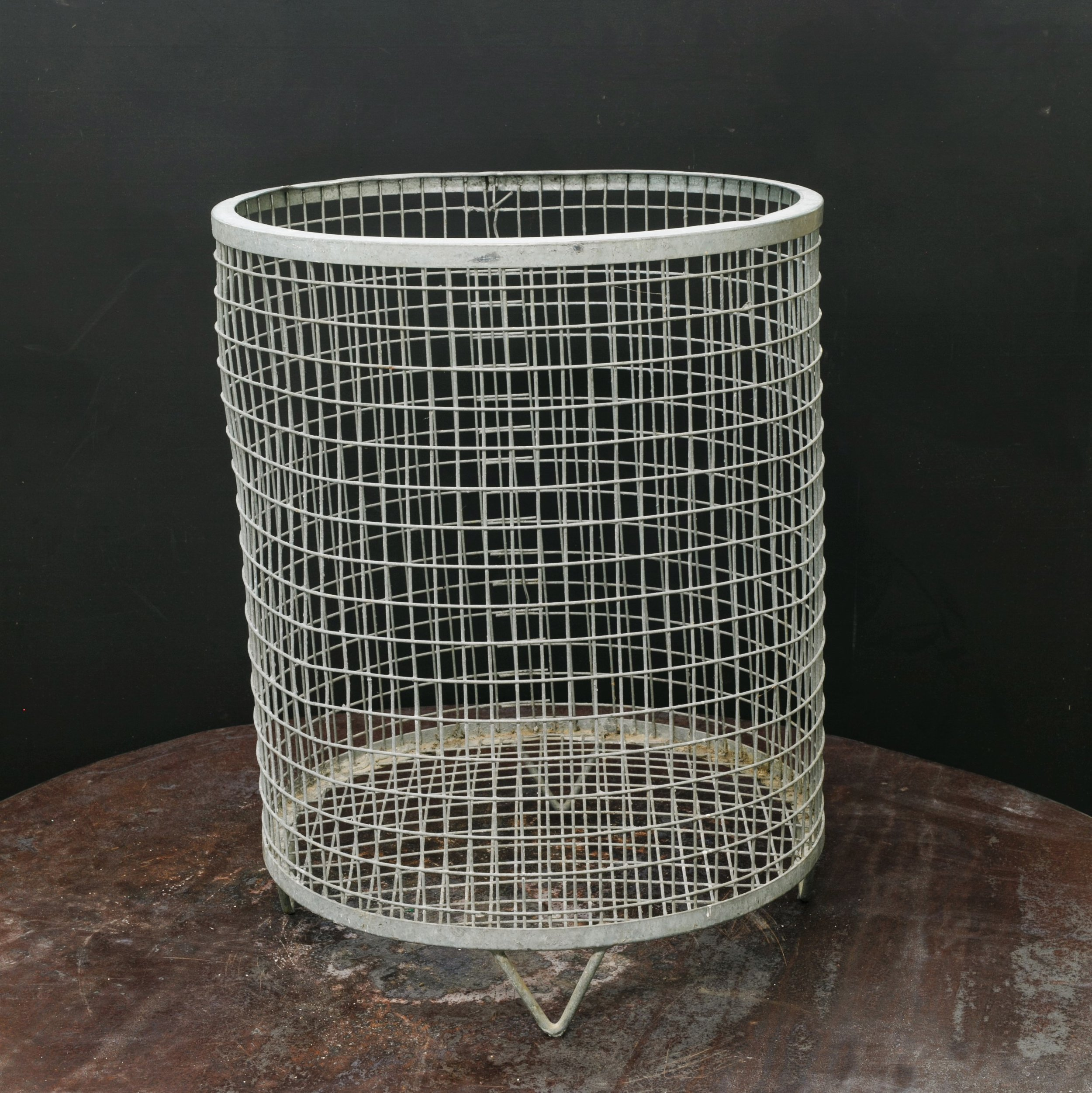 Large Belgian Wire Basket on Feet
