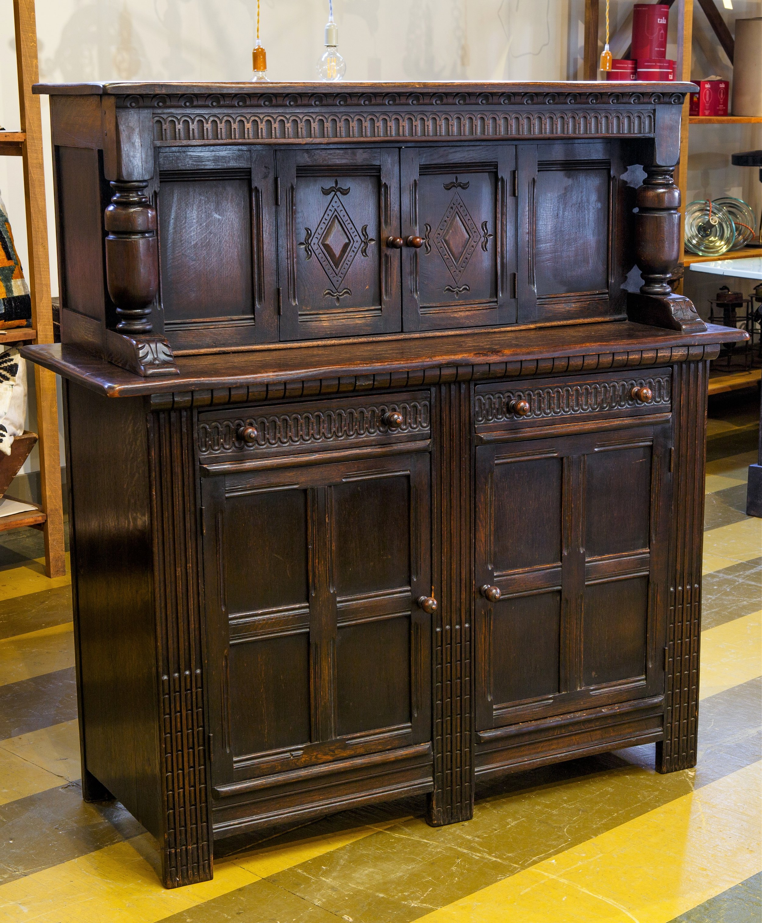 Early 20th Century English Court Cupboard