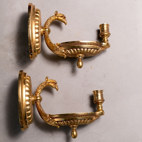 Pair of Brass Regency Style Candle Sconces
