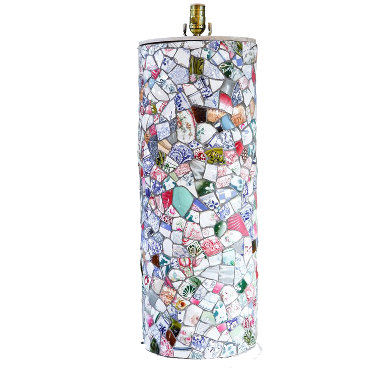 Tall Charming Mosaic Table Lamp