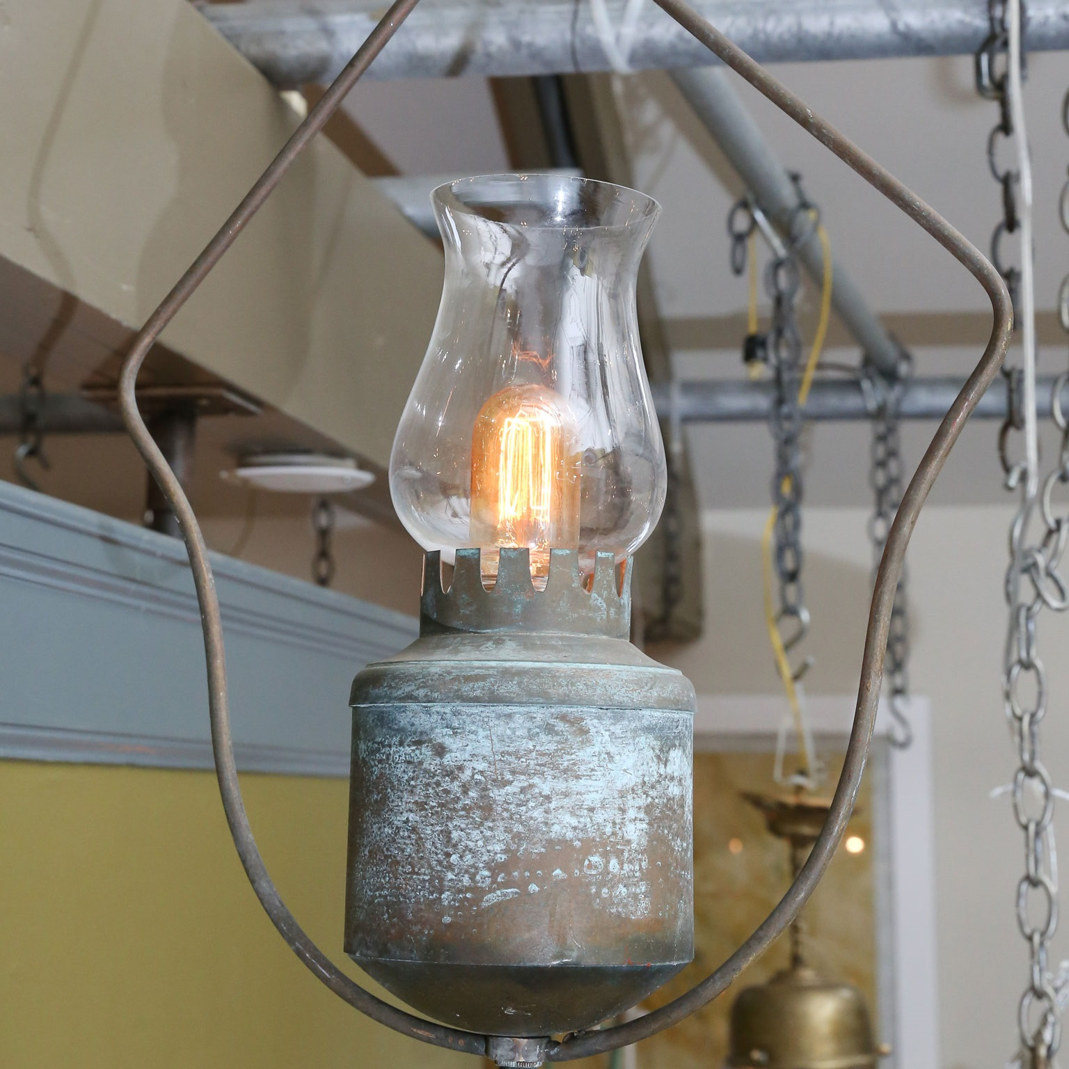 One-of-a-Kind Single Light Hall Lantern