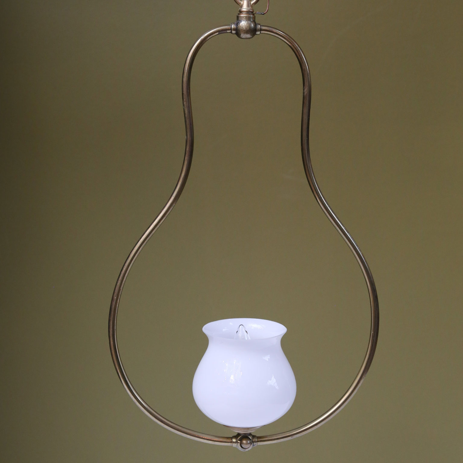 Single Light Brass Hall Lantern